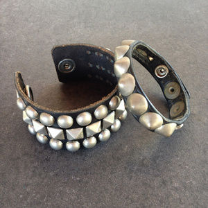 Vintage Jewelry - Retro/Rockabilly Studded Cuff Bracelets